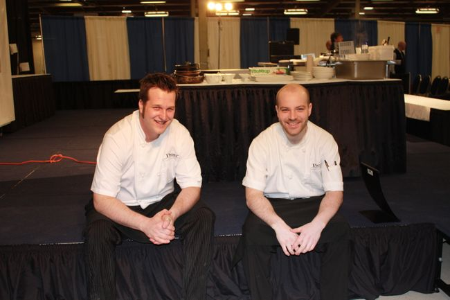 Chef Ian Milner and Apprentice Chef Adam Todd